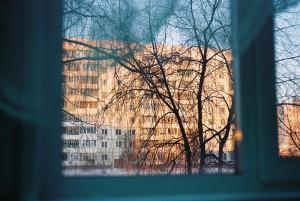 de la fereastra